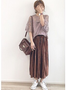 yunさんの「シャルマン スカーフ付2wayハンドバッグ(fifth|フィフス)」を使ったコーディネート