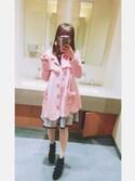 Ikumi郁弥さんの「グログランリボンブーツ(merry jenny|メリージェニー)」を使ったコーディネート