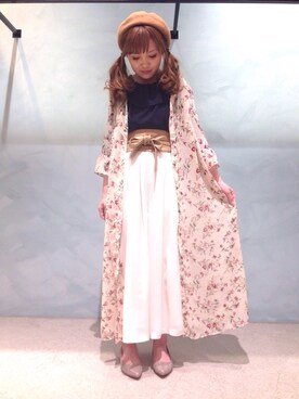 INTERPLANET 堺北花田店|mei♡さんの「【mio notis】フラットパンプス(matelasse durer)」を使ったコーディネート