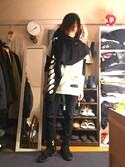 「+ adidas Suede Sneakers(Rick Owens)」 using this gr looks