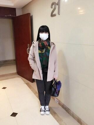 Jane-chanさんの「ビックフードコート(E hyphen world gallery|イーハイフンワールドギャラリー)」を使ったコーディネート