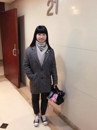 Jane-chanさんの「ウールコクーンコート(Levi's|リーバイス)」を使ったコーディネート