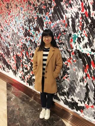 Jane-chanさんの「チェスターコート(E hyphen world gallery|イーハイフンワールドギャラリー)」を使ったコーディネート