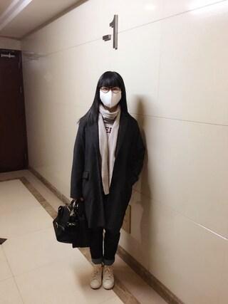 Jane-chanさんの「綾モッサチェスターコート(Ray Cassin|レイカズン)」を使ったコーディネート