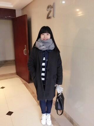 Jane-chanさんの「MEN コットンカシミヤケーブルクルーネックセーター(柄・長袖)(ユニクロ|ユニクロ)」を使ったコーディネート