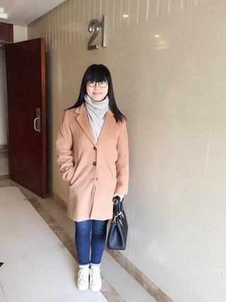 Jane-chanさんの「チェスターコート(E hyphen world gallery イーハイフンワールドギャラリー)」を使ったコーディネート