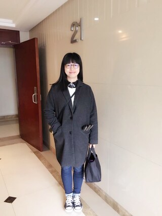 Jane-chanさんの「MEN ヘビーフランネルシャツ(長袖)(ユニクロ ユニクロ)」を使ったコーディネート