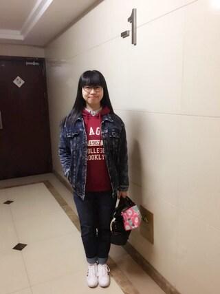 Jane-chanさんの「【JINS CLASSIC -Metal-】メタル(JINS|ジンズ)」を使ったコーディネート