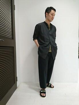 Bshop グランフロント大阪店|ナカハラさんのTシャツ/カットソー「クルーネックポケットTシャツ R62 MEN(Bshop|ビショップ)」を使ったコーディネート