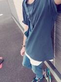 YuTaさんの「【BACK NUMBER】ピグメントTシャツ(Right-on|ナイキ)」を使ったコーディネート
