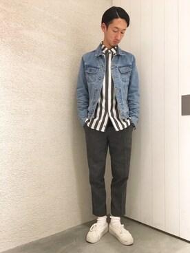 LE JUN二子玉川ライズ S.C.店|RYOJIさんのシャツ/ブラウス「Crosby Jumbo Stripe Shirt(Saturdays NYC|サタデーズ ニューヨークシティ )」を使ったコーディネート