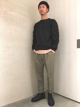 LE JUN二子玉川ライズ S.C.店|RYOJIさんのスラックス「Gordy Pleated Dress Pants(Saturdays NYC|サタデーズ ニューヨークシティ )」を使ったコーディネート