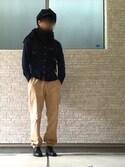 ようさんの「【全11柄】起毛ツイルボタンダウンシャツ(CIAOPANIC TYPY|チャオパニックティピー)」を使ったコーディネート