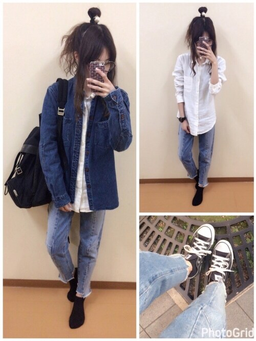「NEPP DENIM WORK SHIRT(BANKROBBER)」 using this prada_h1me looks