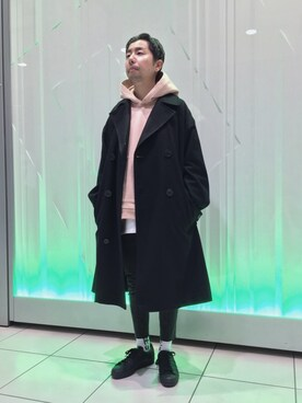 ビューティ&ユース ユナイテッドアローズ 神戸三宮店|Kiyotaka Nakagawaさんの「<FLAGSTUFF × Lambda Takahashi × BY> BIG TRENCH COAT1/アウター(FLAGSTUFF)」を使ったコーディネート