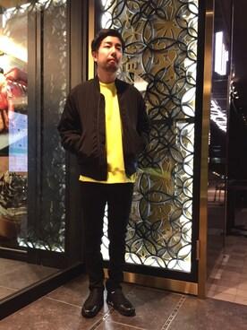 ビューティ&ユース ユナイテッドアローズ 神戸三宮店|Kiyotaka Nakagawaさんのミリタリージャケット「BY ∴ シンサレート MA-1(BEAUTY&YOUTH UNITED ARROWS|ビューティアンドユースユナイテッドアローズ)」を使ったコーディネート