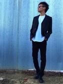 FUJIさんの「スーツ生地 テーラードジャケット ブレザー(8(eight)|エイト)」を使ったコーディネート