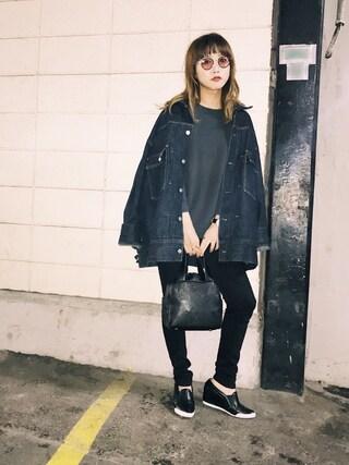 「Denime×k3&co. Big Denim Jacket(k3&co)」 using this 田中里奈 looks