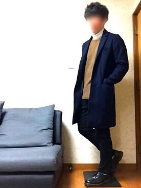 kyousukeさんの「【BACK NUMBER】チェスターコート(Right-on)」を使ったコーディネート