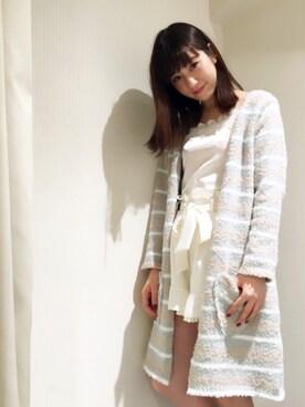 MIIA LUMINE EST新宿店|Haruka  Nakaniwaさんの「レースサテンキャミソール(MIIA)」を使ったコーディネート