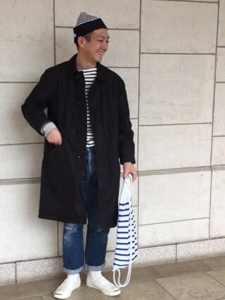 やまさんの「15春夏新入荷【ORCIVAL(オーシバル)】コットンロード フレンチバスクシャツ(ORCIVAL|オーシバル)」を使ったコーディネート