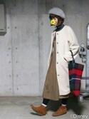 yumiko🐢さんの「KBF BIGプリーツジャンパースカート(KBF|ケイビーエフ)」を使ったコーディネート