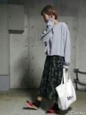 yumiko🐢さんの「メンテンBIGBIG Tシャツ【niko and ...】(niko and...|ニコアンド)」を使ったコーディネート