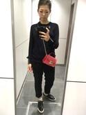 ユッコ is wearing FURLA