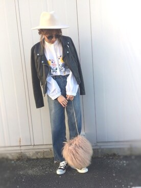 えーゆーさんの「ファーチェーンバッグ(TODAYFUL|トゥデイフル)」を使ったコーディネート