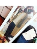 りいかさんの「コート ライナー付トレンチコート 秋冬(Perfect Suit FActory|ノーブランド)」を使ったコーディネート