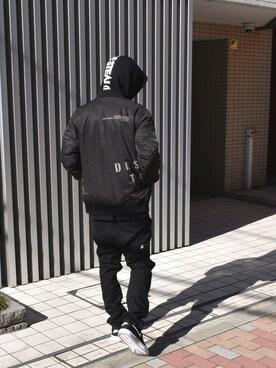 DOUBLE STEAL harajuku まっつんさんのMA-1「PRINT MA-1(DOUBLE STEAL ダブルスティール)」を使ったコーディネート
