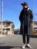 satoshiさんの「【P.P.P】コラボDOVER/ストレッチ起毛トラウザーパンツ(CIAOPANIC TYPY|チャオパニックティピー)」を使ったコーディネート