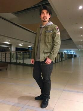 AVIREX ららぽーと横浜 hirokiさんの(AVIREX アヴィレックス)を使ったコーディネート