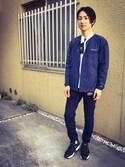 Wataru Otsuboさんの「Champion/ チャンピオン別注ノーカラーオーバーズ(Champion|チャンピオン)」を使ったコーディネート