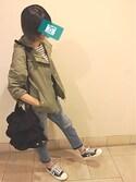 Yuriさんの「3段フリルトートバッグ(who's who Chico|フーズフーチコ)」を使ったコーディネート
