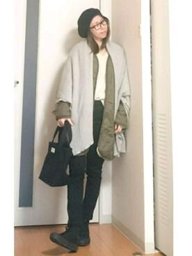 Tomomiiiさんの「DOORS バスクベレー帽(URBAN RESEARCH DOORS WOMENS|アーバンリサーチ ドアーズ ウィメンズ)」を使ったコーディネート