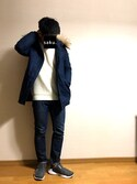 saku.さんの「STUDIOUS フーデッドダウンコート MADE IN JAPAN.(STUDIOUS|ステュディオス)」を使ったコーディネート