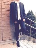 Masahiroさんの「MA-1ジャージ(tk.TAKEO KIKUCHI|ティーケータケオキクチ)」を使ったコーディネート