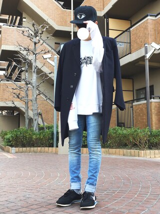 「GOLDEN GOOSE Low-tops & trainers(Golden Goose)」 using this まーしい looks