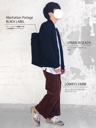 「Manhattan Portage BLACK LABEL / CHRYSTIE BACKPACK 1320(BEAMS)」 using this まーしい looks