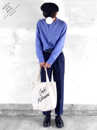 「ブロードバンドカラーシャツ(LE JUN)」 using this まーしい looks