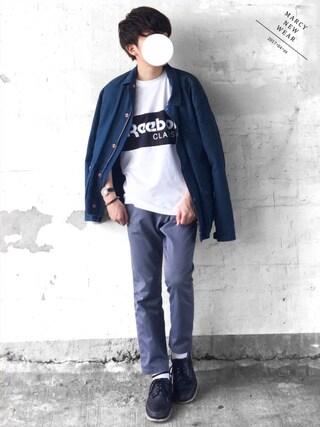 まーしいさんの「【2017春夏】プリントTシャツ Reebok CLASSIC(リーボック クラシック)(Reebok|リーボック)」を使ったコーディネート