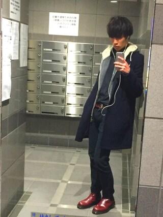 Tetsuさんの「ボアキモウパーカ長袖/514419(RAGEBLUE|レイジブルー)」を使ったコーディネート
