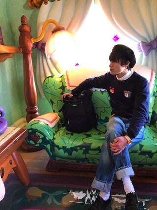 Tetsuさんの「BC BASQUE BERET ベレー帽(green label relaxing|グリーンレーベルリラクシング)」を使ったコーディネート