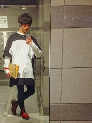Tetsuさんの「スーパーオーバーサイズビッグTシャツ  UR-239(unrelaxing|アンリラクシング)」を使ったコーディネート