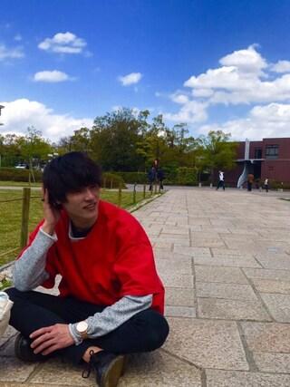 Tetsuさんの「【GIGGER】麻混裏毛ロールボートネックスウェット(WHO'S WHO gallery|フーズフーギャラリー)」を使ったコーディネート
