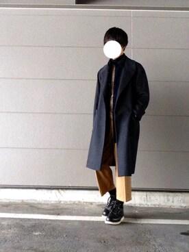 たさんの「PONTETORTO オーバーコート(tk.TAKEO KIKUCHI|ユナイテッドアローズ)」を使ったコーディネート