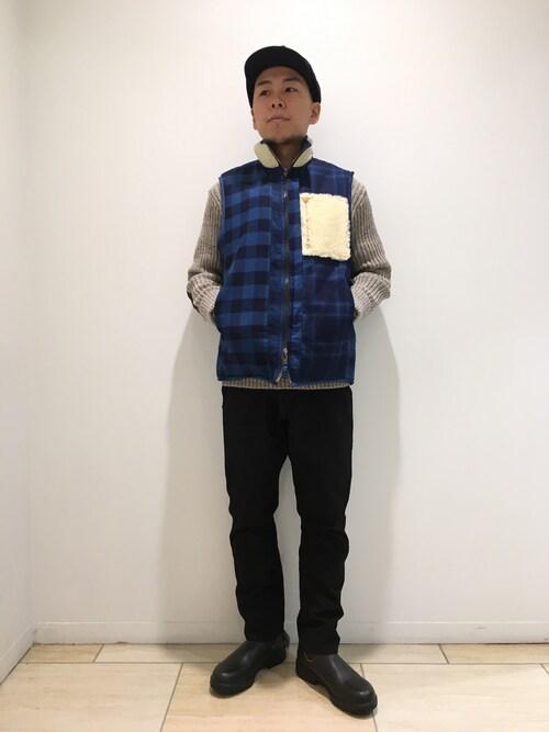 BEAVER名古屋店 funatoさんのニット/セーター「Woolly Pully/ウーリープーリー ORIGINAL WOOLY PULLY(BEAVER|ビーバー)」を使ったコーディネート