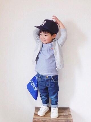 miiio++さんの「【DANTON】ダントンボーダーポケットTシャツ(Danton|ダントン)」を使ったコーディネート