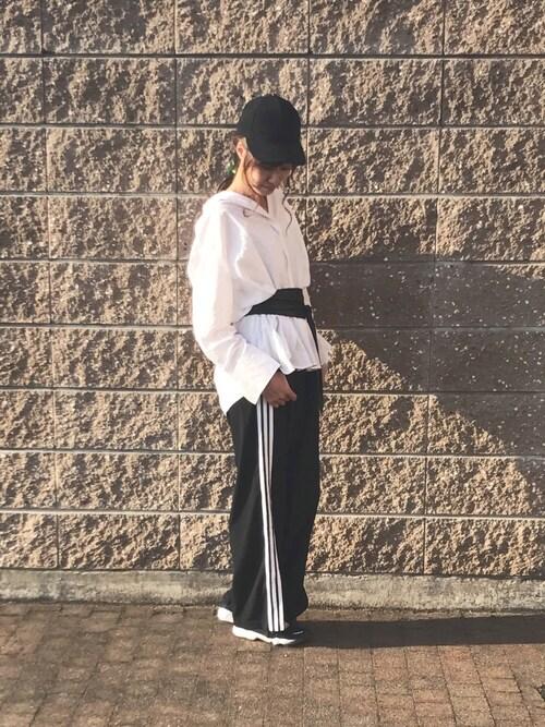 宇佐美 彩さんの「アソートBIGシャツ 744917(LOWRYS FARM)」を使ったコーディネート